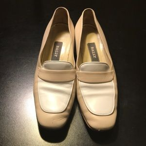 Bally Cream & White Loafers